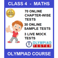 Class 4 Maths Olympiad course with 100 online tests (Chapter- wise, Sample and LIVE Mock)