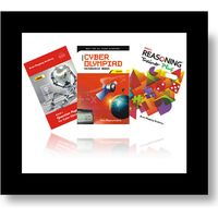 Class 8- BMA's Cyber resource book+ Model papers+ Reasoning trainer (With solution book)