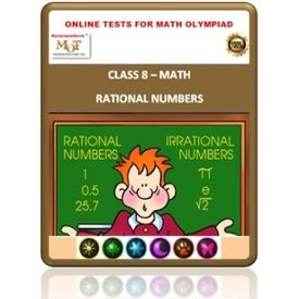 Class 8, Rational numbers, Online test for Math Olympiad