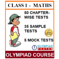 Class 1 Maths Olympiad Course with 85 Online tests (Chapter- wise, Sample and LIVE Mock)