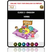 Class 1- Verbs- Online test for English Olympiad