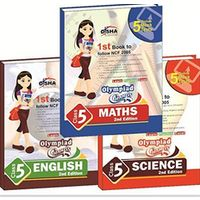 Class 5- Olympiad Champs Science, Mathematics, English (set of 3 books) + Subscription to GLOWMOT & GLOWSOT