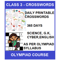 Class 3 Daily printable crossword for 365 days in Science, G. K, English & Cyber