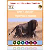 Class 7, Nutrition in animals, Online test for Science Olympiad