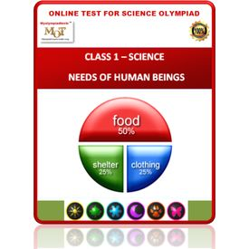 Class 1- Human beings & needs- Online test for Science Olympiad