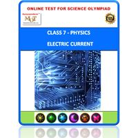 Class 7, Electric current, Online test for Science Olympiad
