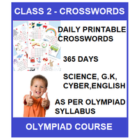 Class 2 Daily printable crossword for 365 days in Science, G. K, English & Cyber