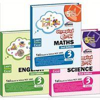 Olympiad Champs Science, Mathematics, English Class 3 (set of 3 books) + Subscription to GLOWSOT & GLOWMOT