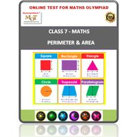Class 7, Perimeter & area, Online test for Math Olympiad