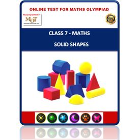 Class 7, Solid shapes, Online test for Math Olympiad