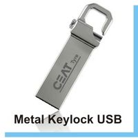 Personalized with your name / Logo - Metal Key Lock pendrive 4gb