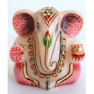 Marble Ganesha Gold Painted 2, 3 inches