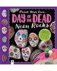 Paint Your Own Day Of The Dead Neon Rocks, na