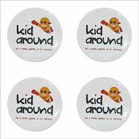 44mm/58mm 400 pcs Personalized Smiley Button Badges