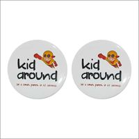 44mm/58mm 200 pcs Personalized Smiley Button Badges