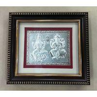 Lakshmi Ganesha Silver Frame-GP002, frame1