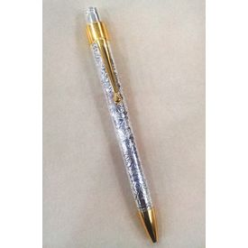 Classy Engraved Golden Coated, Silver Pen-GP005