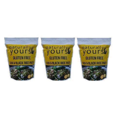 Gluten free Chia & Black Rice Pasta 200g (Pack of 3)