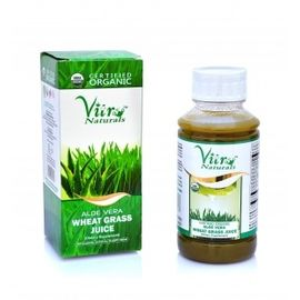 Certified Organic ALOEVERA WHEAT GRASS JUICE 500ML vitro
