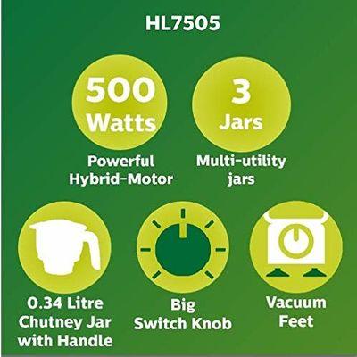 Philips HL7610/04 3 Jar 500 Watts Mixer Grinder