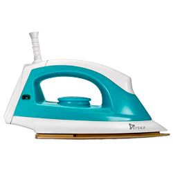 Syska Dry Iron SDI 07 Golden Plate 1000 watt white
