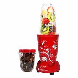 Wonderchef 400 Watt Nutri-Blend Juicer Mixer Grinder (Red) With Recipe Booklet