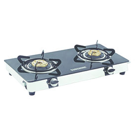 Sunshine Smart Dlx SS Double Burner Toughened Glass Gas Stove