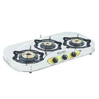 Sunshine VT-3 Series-1 Three Burner Stainless Steel Gas Stove, lpg, manual