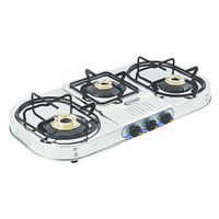Sunshine VT-3 Step Three Burner Stainless Steel Gas Stove, lpg, manual