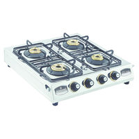 Sunshine CT-100 Four Burner Stainless Steel Gas Stove, lpg, manual