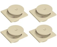 CiplaPlast Shower Floor Drain / Cockroach Trap - BRC 733 Ivory (Pack of 4)
