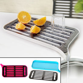 Vegatables Fruit Dishes Drainer Rack Drying Holder Drain Tray Kitchen Tool