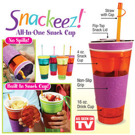 Snackeez snack n drink in one cup