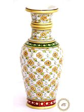 Craftsgallery Marble Vase Painted, 9 inches