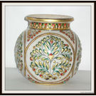 Marble Pot Round Shape, 5 x 5  inches