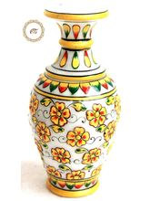 Marble Vase Painted Flower Pot, 6 inches