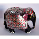 Wooden Elephant Silver Painted 1