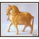 Wooden Horse With Beautiful Carving