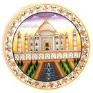 Marble Painting TajMahal, 9 inches
