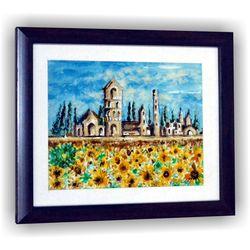 Palace Flower Garden Blue Sky Craft Wall Decor Sketch, 8 inch x 7 inch