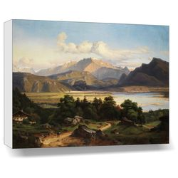 Landscape - Mountain River - Canvas Art - 14 x 18 inch, 14 x 18 inches