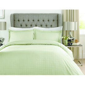 Mark Home Luxury Squares Green Bed Sheet Set in King size