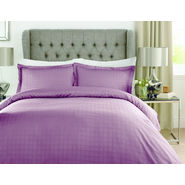 Mark Home Luxury Squares Wine Bed Sheet Set in King size