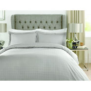 Mark Home Luxury Squares grey Bed Sheet Set Double size