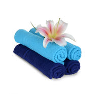 Navy blue and Sky blue hand towel set