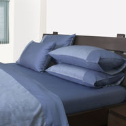 Mark Home Reversible Bed Sheet Set King Blue