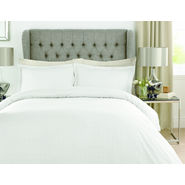 Mark Home Luxury Squares white duvet cover in Double size