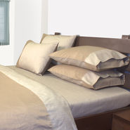 Mark Home Reversible Bed Sheet Set Double Beige Set of 3