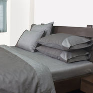 Mark Home Reversible Bed Sheet Set King Grey Set of 3