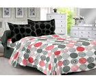 Welhouse Black & Polka Design Super Soft Cotton Double Bedsheet With 2 Contrast Pillow Cover-Best Tc-175, black